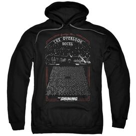 The Shining Overlook Adult Pull Over Hoodie Black