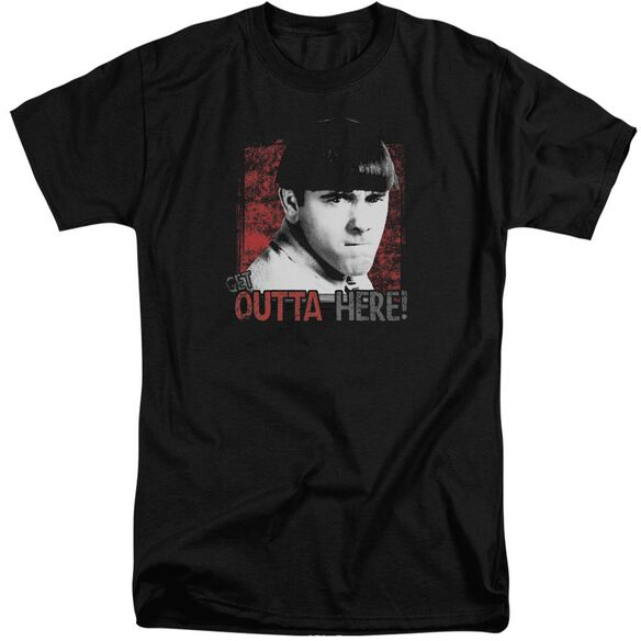 Three Stooges Get Outta Here Short Sleeve Adult Tall T-Shirt