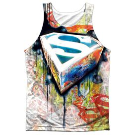 Superman Urban Shields Adult 100% Poly Tank Top