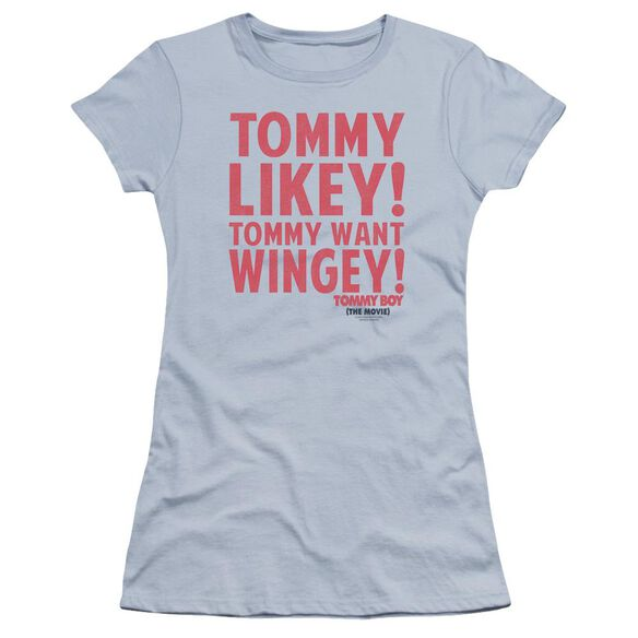 Tommy Boy Want Wingey Premium Bella Junior Sheer Jersey Light