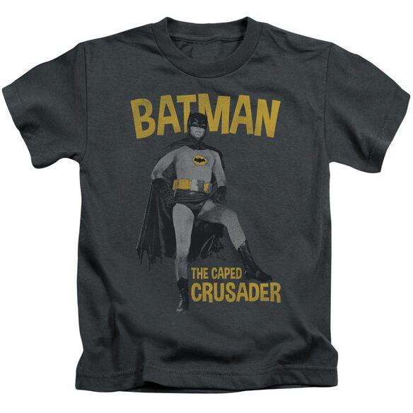 Batman Classic Tv Caped Crusader Short Sleeve Juvenile T-Shirt
