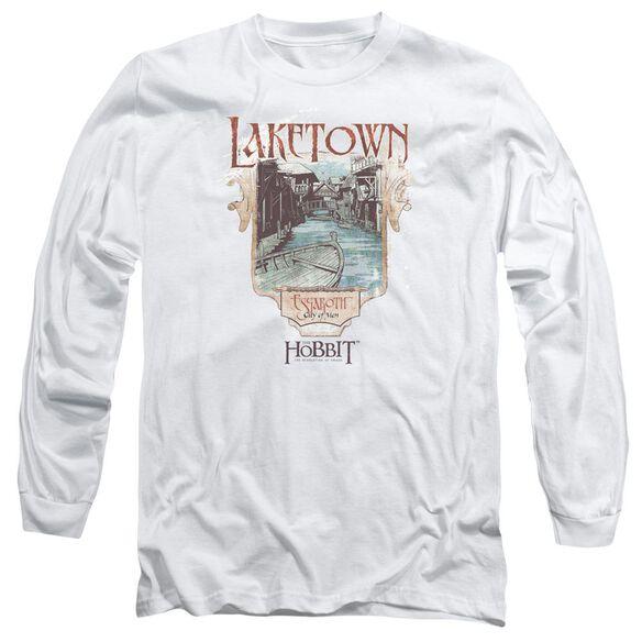 Hobbitlaketown Long Sleeve Adult T-Shirt