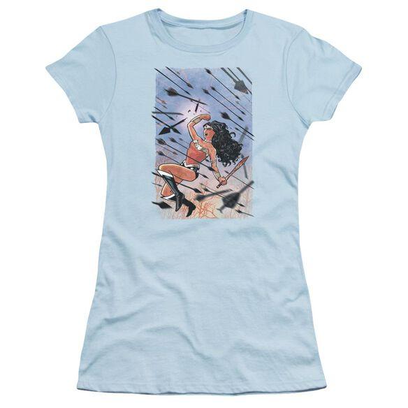 Jla Wonder Woman #1 Short Sleeve Junior Sheer Light T-Shirt