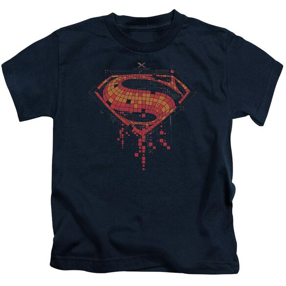 Batman V Superman Tech Super Logo Short Sleeve Juvenile T-Shirt