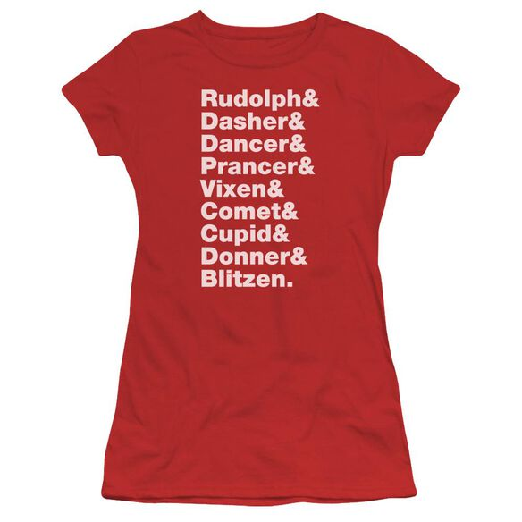 Reindeer Short Sleeve Junior Sheer T-Shirt
