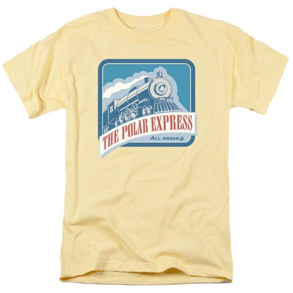 Polar Express All Aboard Short Sleeve Adult Banana T-Shirt