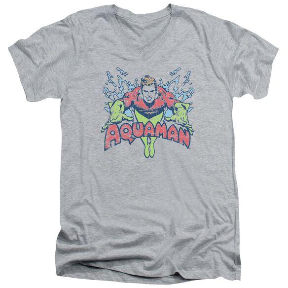 Dc Splish Splash Short Sleeve Adult V Neck Athletic T-Shirt