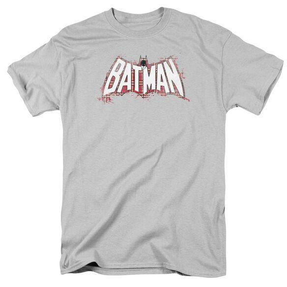 Batman Plaid Splat Logo Short Sleeve Adult T-Shirt