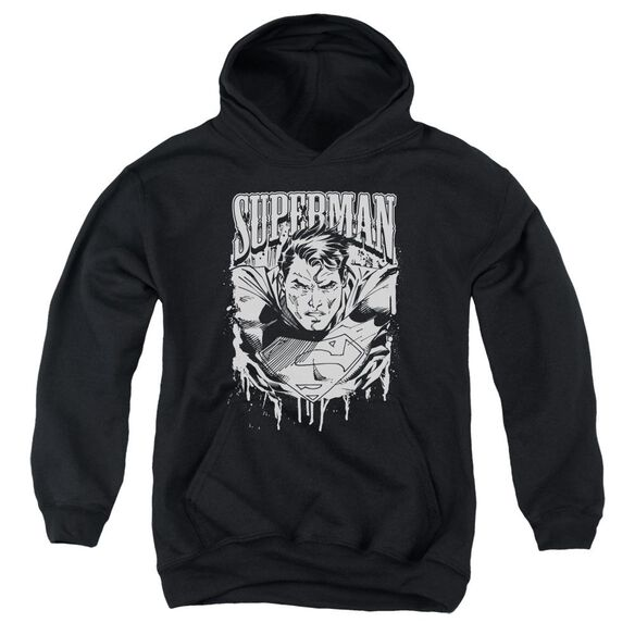 Superman Super Metal Youth Pull Over Hoodie