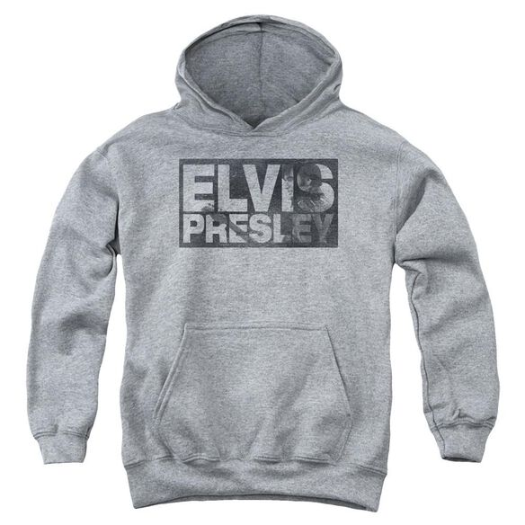 Elvis Block Letters Youth Pull Over Hoodie