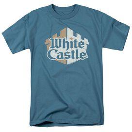 White Castle Torn Logo Short Sleeve Adult Slate T-Shirt