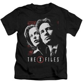 X Files Mulder & Scully Short Sleeve Juvenile Black T-Shirt