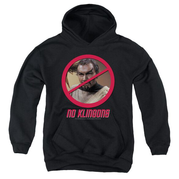 Star Trek No Klingons Youth Pull Over Hoodie