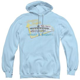 AMERICAN GRAFFITI MELS DRIVE IN - ADULT PULL-OVER HOODIE - Light Blue