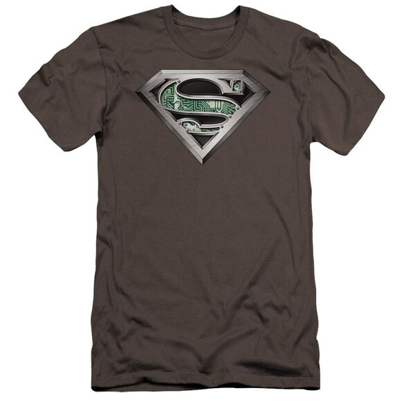 Superman Circuitry Logo Premuim Canvas Adult Slim Fit