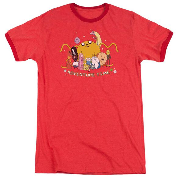 Adventure Time Outstretched Adult Ringer Red