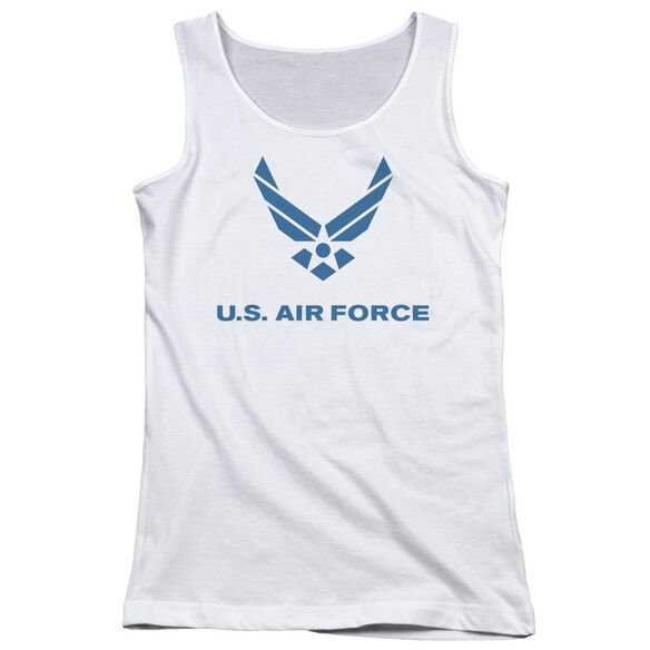Air Force Distressed Logo Juniors Tank Top