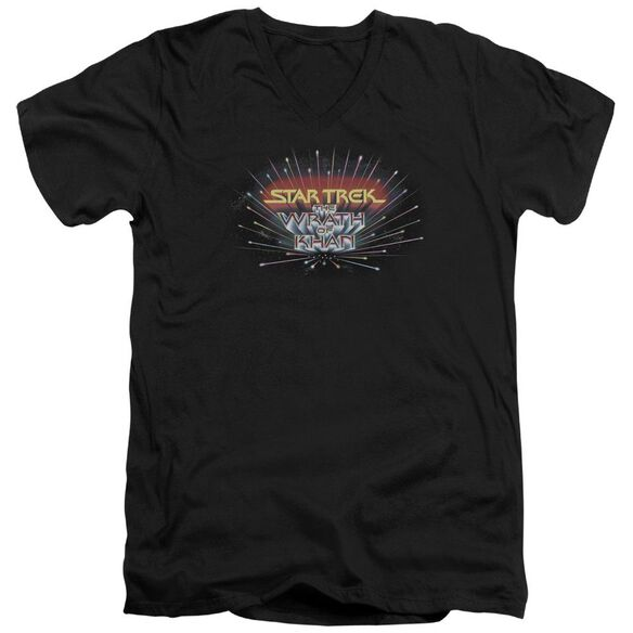 Star Trek Khan Logo Short Sleeve Adult V Neck T-Shirt