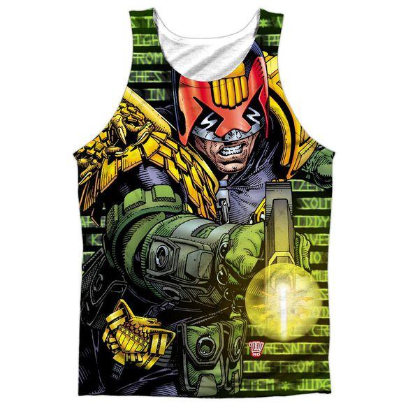 Judge Dredd Matrix Adult 100% Poly Tank Top