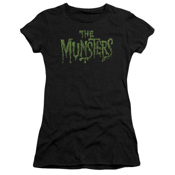 The Munsters Distress Logo Short Sleeve Junior Sheer T-Shirt