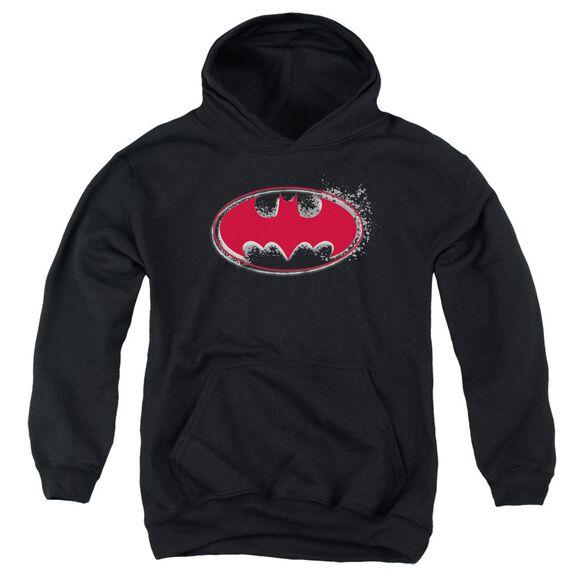 Batman Hardcore Noir Bat Logo Youth Pull Over Hoodie