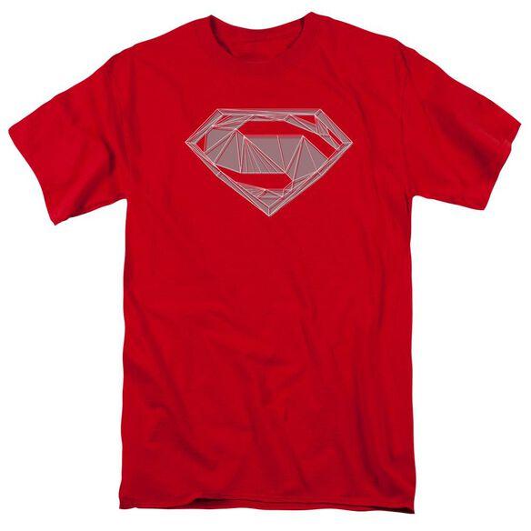 Batman V Superman Techy S Short Sleeve Adult Red T-Shirt