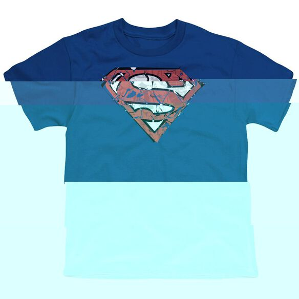 SUPERMAN RIPPED AND SHREDDED - S/S YOUTH 18/1 - ROYAL BLUE T-Shirt
