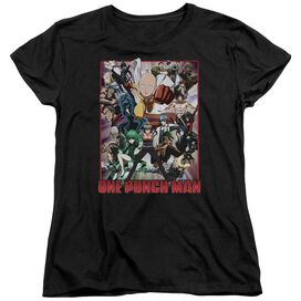 One Punch Man Cast Of Characters Short Sleeve Womens Tee T-Shirt