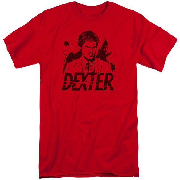 Dexter Splatter Dex Short Sleeve Adult Tall T-Shirt