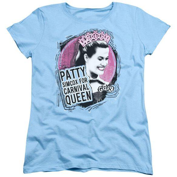Grease Carnival Queen Short Sleeve Womens Tee Light T-Shirt