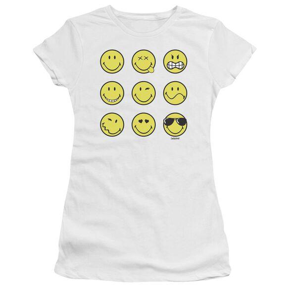 Smiley World Nine Faces Premium Bella Junior Sheer Jersey