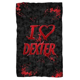 Dexter I Heart Dexter Fleece Blanket