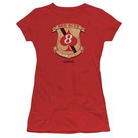 Bsg Aces Badge Short Sleeve Junior Sheer T-Shirt