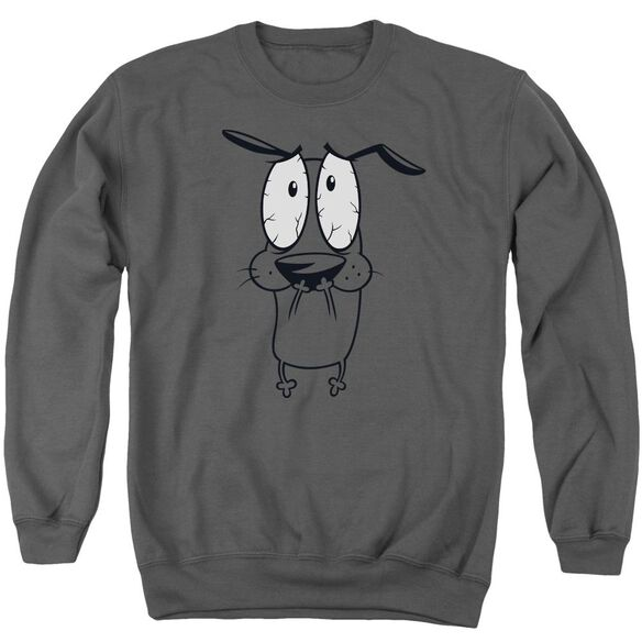 Courage The Cowardly Dog Scared Adult Crewneck Sweatshirt