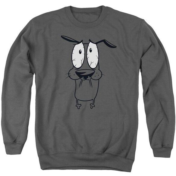 Courage The Cowardly Dog Scared Adult Crewneck Sweatshirt