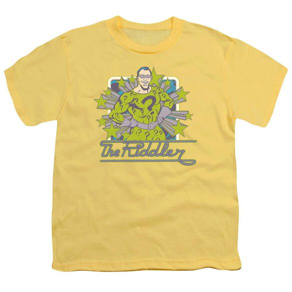 Dc Riddler Stars Short Sleeve Youth T-Shirt