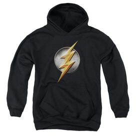 Justice League Movie Flash Logo Youth Pull Over Hoodie
