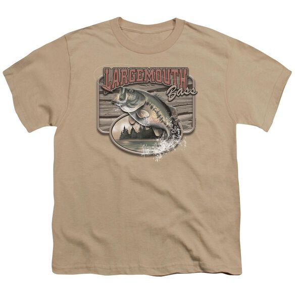 Wildlife Large Mouth Bass Short Sleeve Youth T-Shirt
