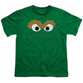 Sesame Street Oscar Face Short Sleeve Youth Kelly T-Shirt