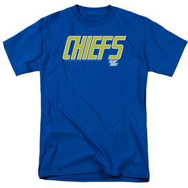 SLAP SHOT CHIEFS LOGO - S/S ADULT 18/1 - ROYAL BLUE T-Shirt