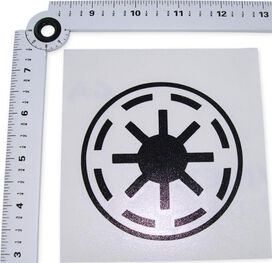 Star Wars Republic Symbol Black Decal