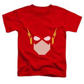 Jla Flash Head Short Sleeve Toddler Tee Red T-Shirt
