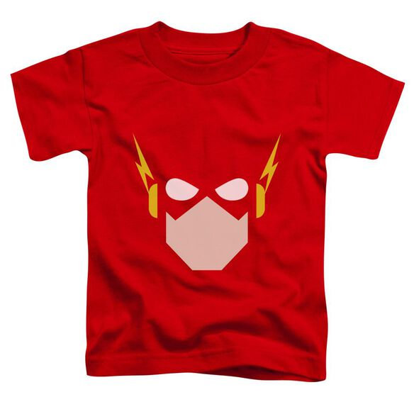 Jla Flash Head Short Sleeve Toddler Tee Red T-Shirt