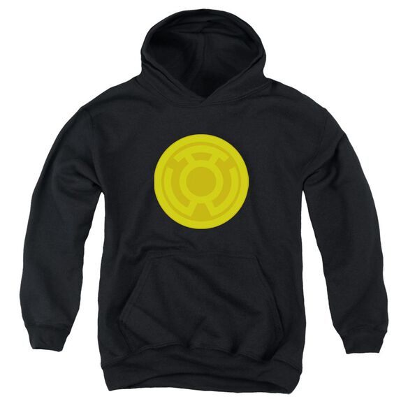 Green Lantern Yellow Symbol Youth Pull Over Hoodie