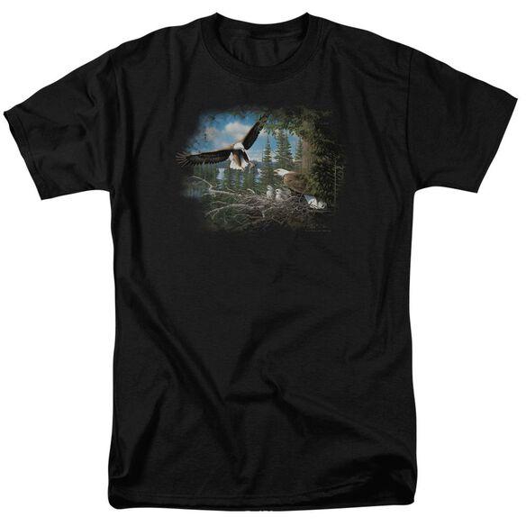 Wildlife Spring Bald Eagles Short Sleeve Adult T-Shirt