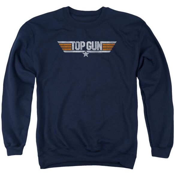 Top Gun Distressed Logo Adult Crewneck Sweatshirt