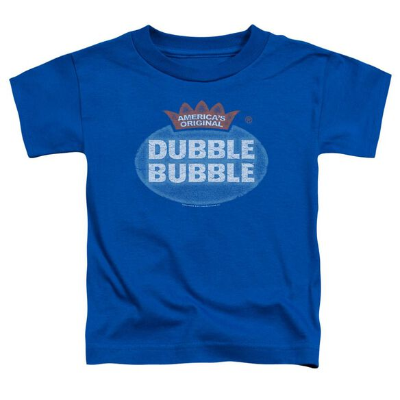 Dubble Bubble Vintage Logo Short Sleeve Toddler Tee Royal Blue T-Shirt