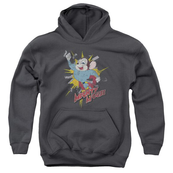 Mighty Mouse Break Through Youth Pull Over Hoodie