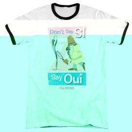 Pink Panther Say Oui - Adult Ringer - White/black