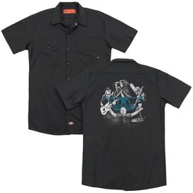 Aerosmith Rock N Round(Back Print) Adult Work Shirt